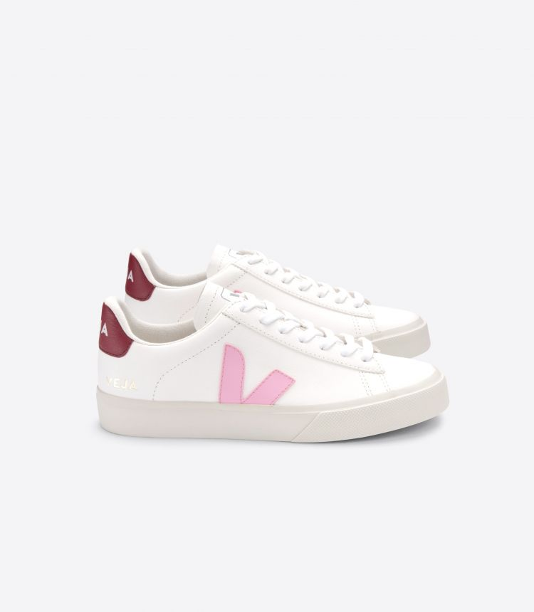 CAMPO 皮革白色粉红色深酒红色