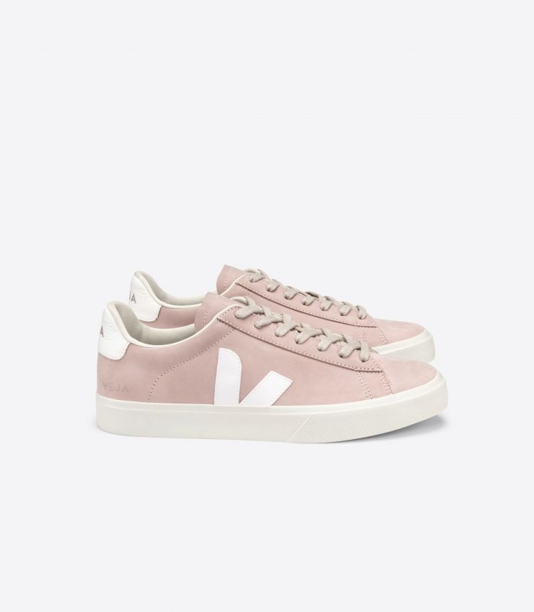 CAMPO 磨绒面皮 粉红色 白色
