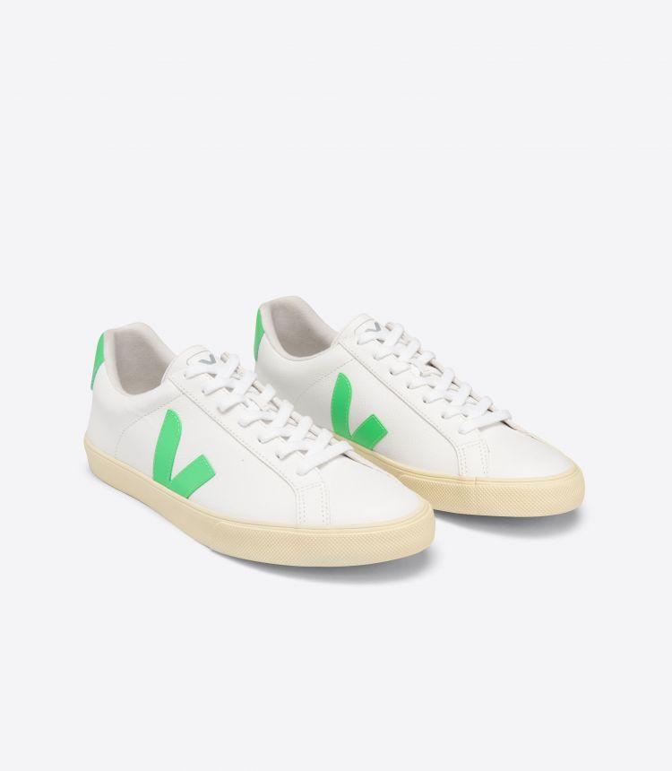 ESPLAR 无铬皮革 白色 浅绿色米黄色 鞋底