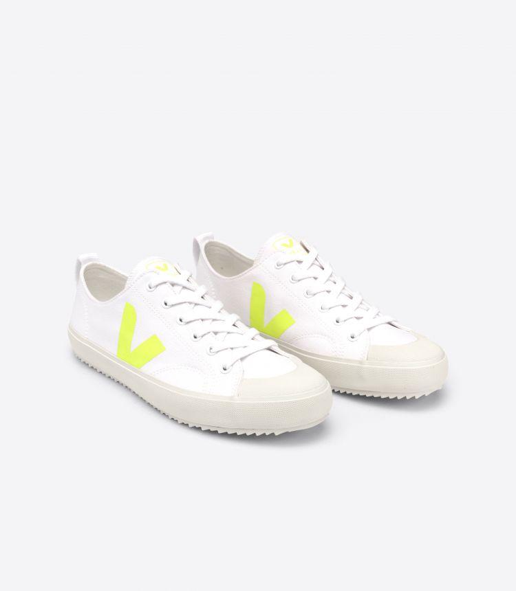 NOVA 帆布 白色 荧光黄