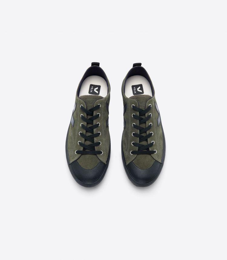 NOVA 绒面革 橄榄色 黑色-鞋底