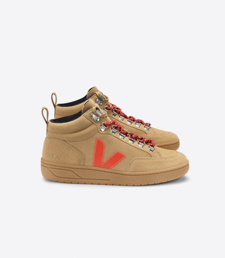 RORAIMA 绒面革沙色荧光橙棕色鞋底