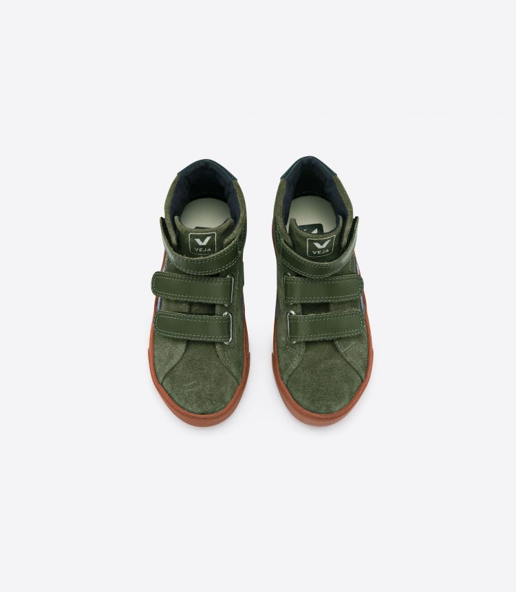 ESPLAR MID 绒面革 橄榄色 铁锈色 鞋底