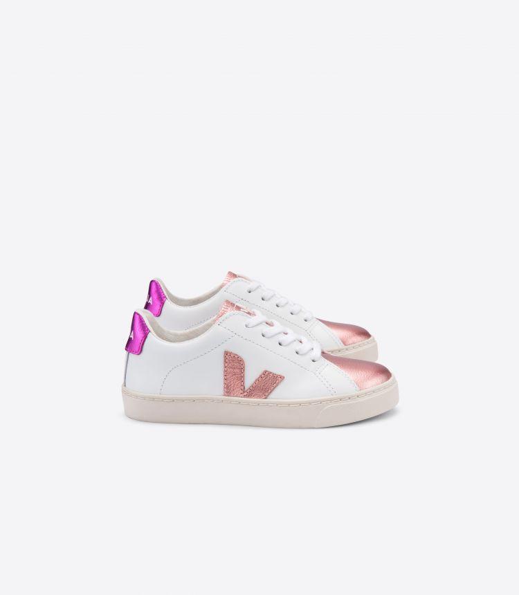 ESPLAR-LACE 皮革 白色 珠光色 紫红色