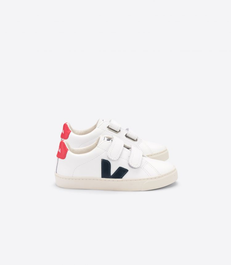 ESPLAR VELCRO LEATHER WHITE NAUTICO PEKIN