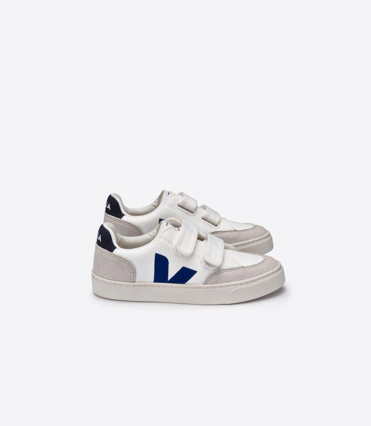 V-12 白色 靛青色
