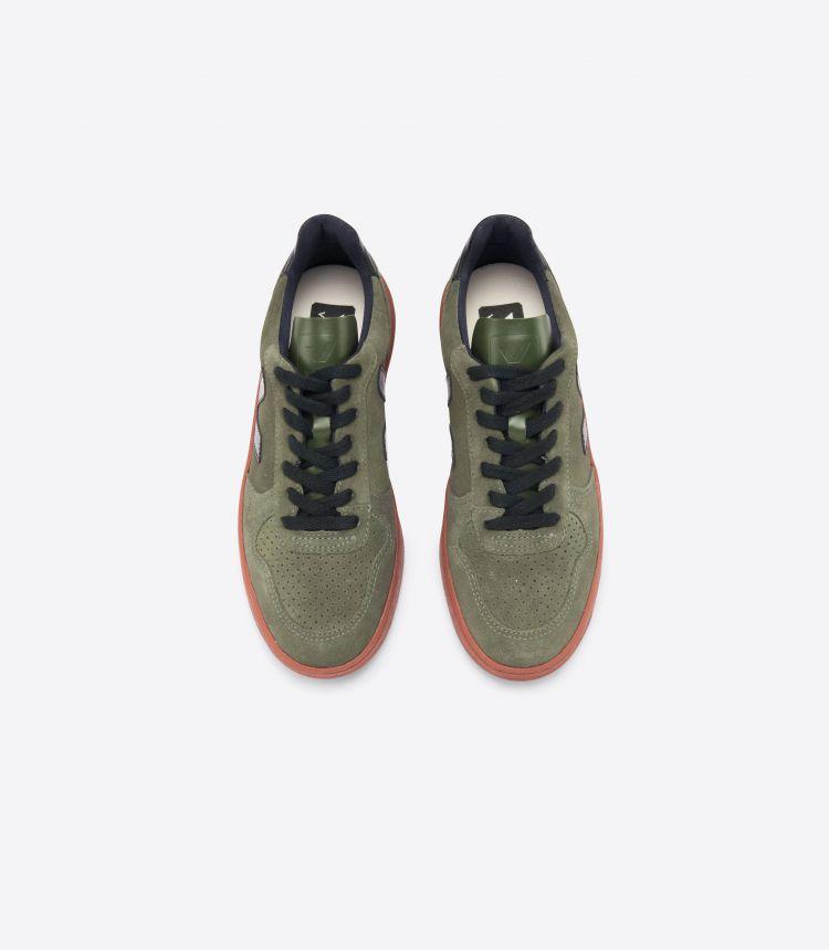 V-10 绒面革 橄榄色 黑色 铁锈色-鞋底