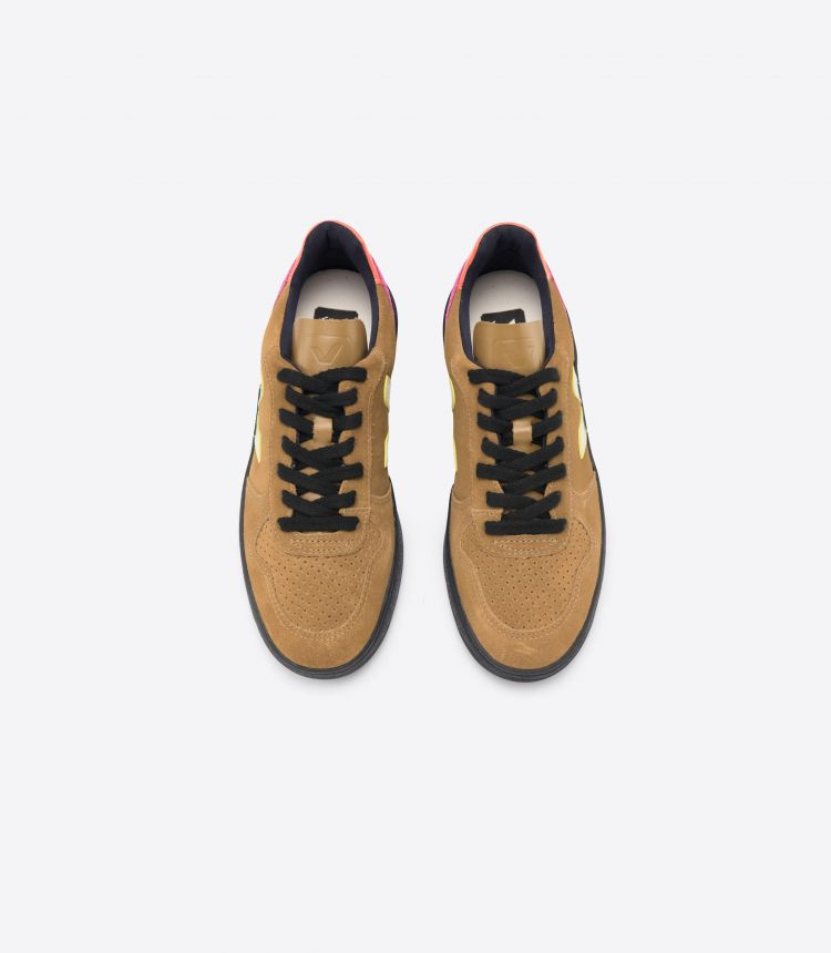 V-10 淡黄褐色 MULTICO-荧光色 黑色-鞋底