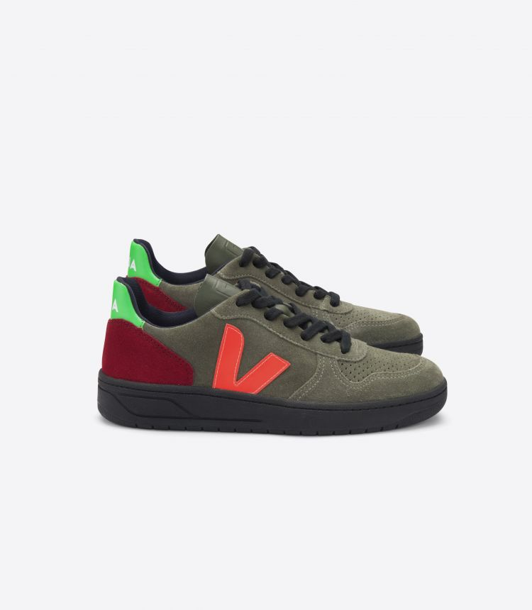 V-10 橄榄色 MULTICO-荧光色 黑色-鞋底