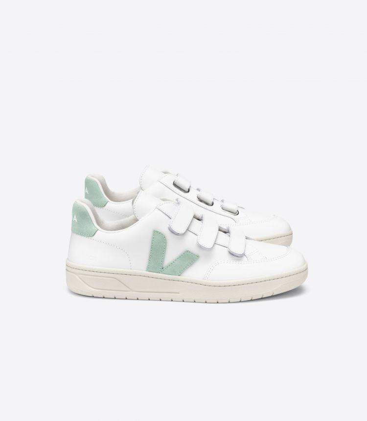 V-LOCK 皮革 白色 绿色