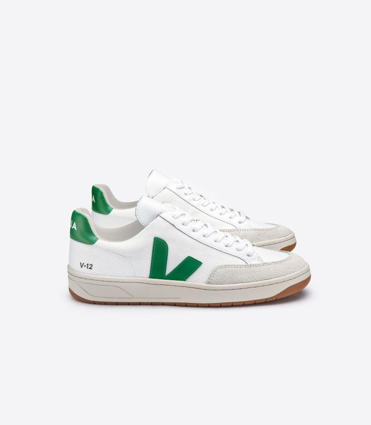 V-12 B-网布布 白色 绿色
