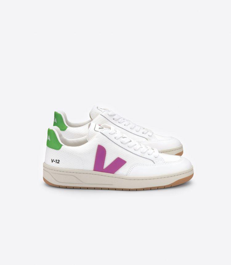 V-12 B-网布布 白色 紫色 绿色