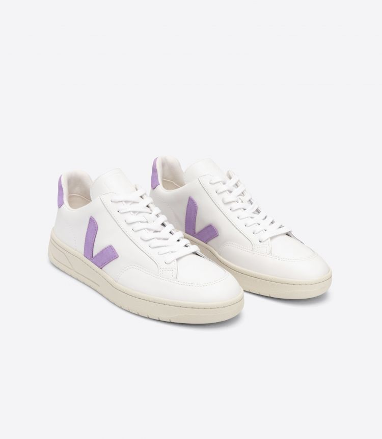 V-12 皮革 白色 紫色