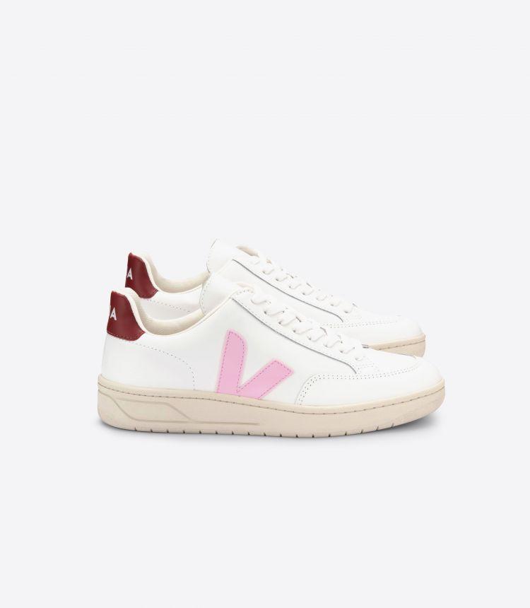 V-12 白色 粉红色 深酒红色