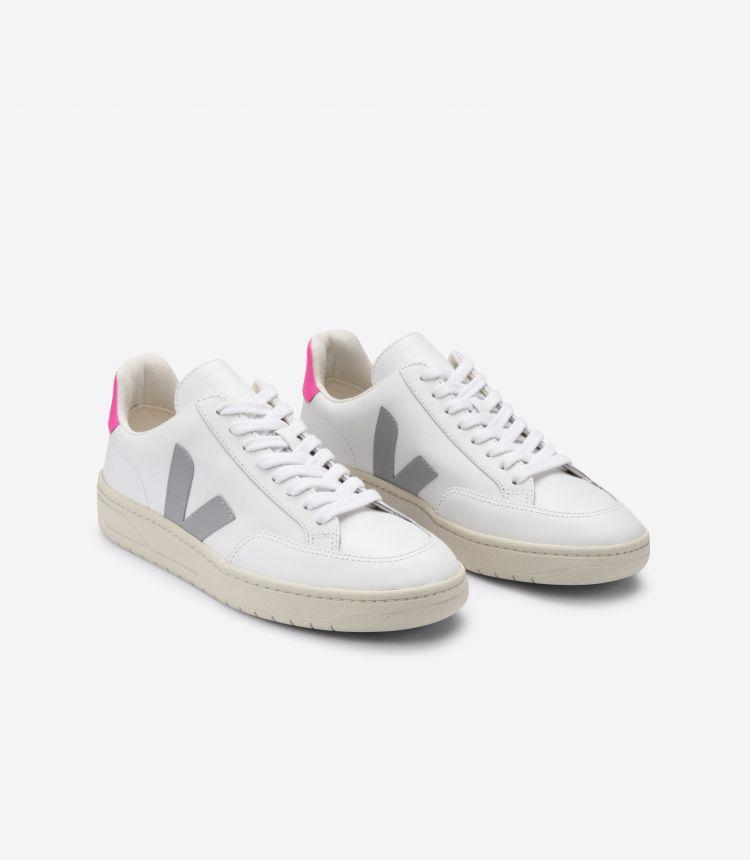 V-12 皮革白色灰色粉红色