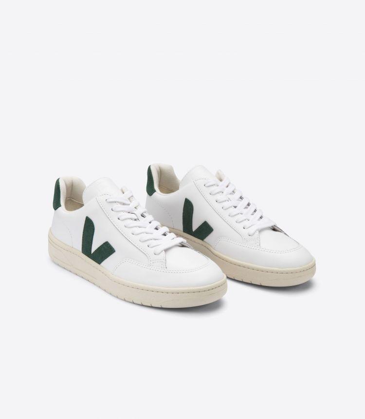 V-12 皮革 白色 绿色