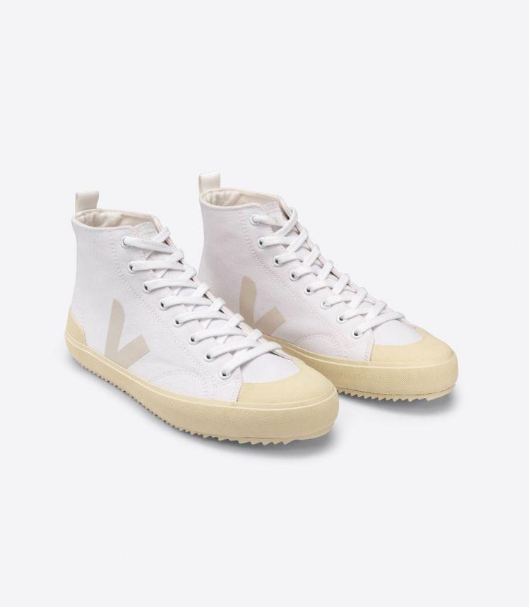 NOVA-HT 帆布 白色 米黄色 鞋底