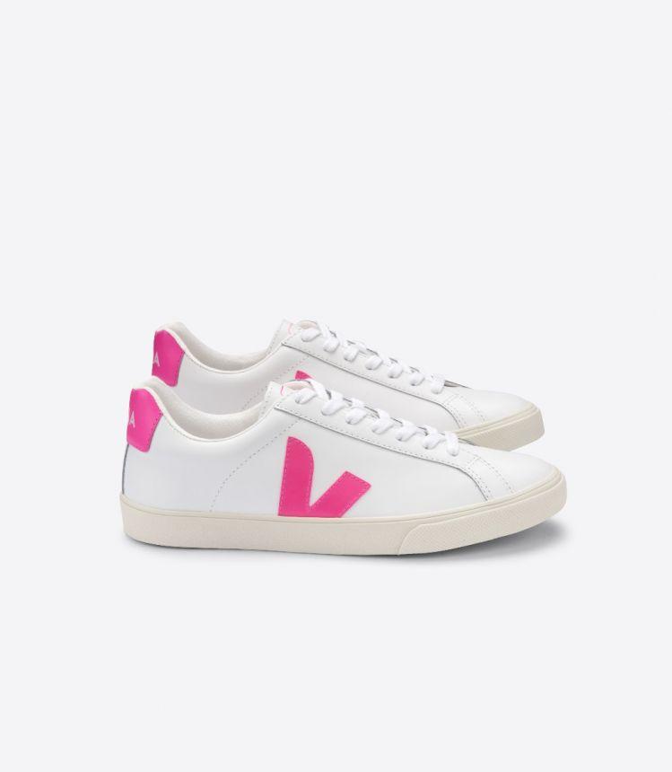 ESPLAR 皮革白色粉红色