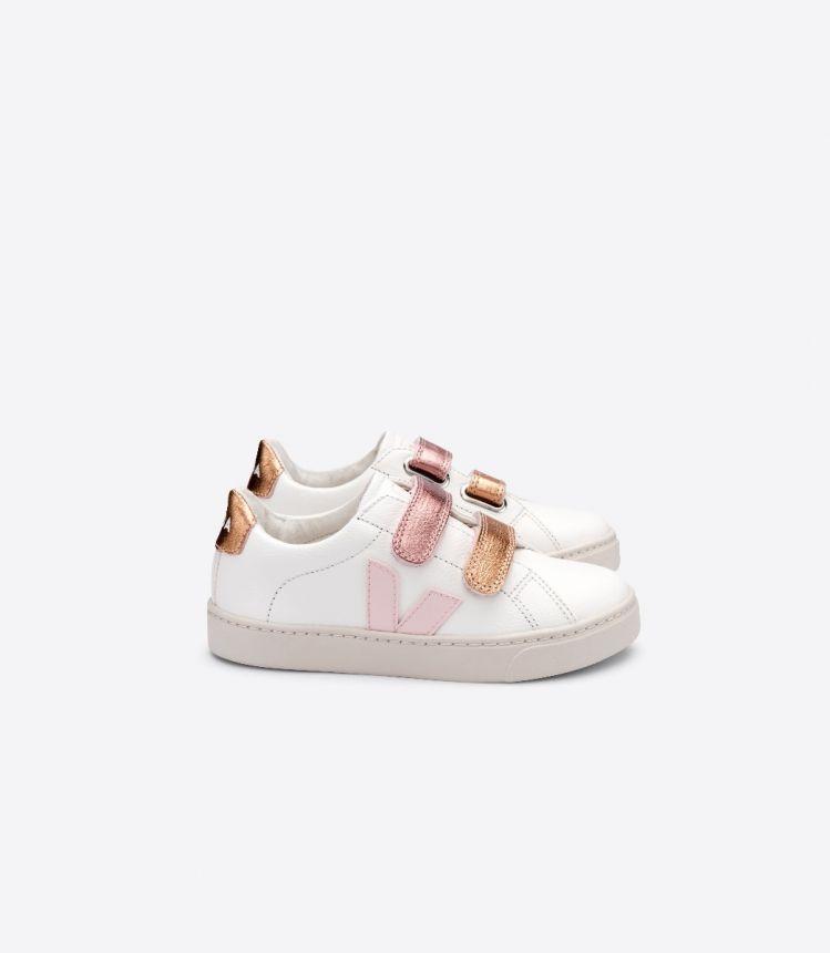 ESPLAR皮革白色粉红色珠光色