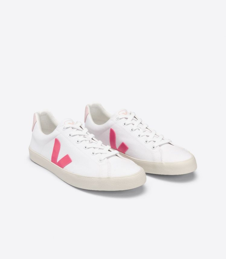 ESPLAR SE 帆布 白色 荧光粉 粉红色