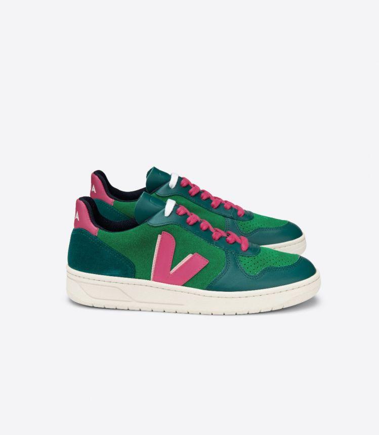 V-10 绒面革 VEJA X MAKE MY LEMONADE 绿色