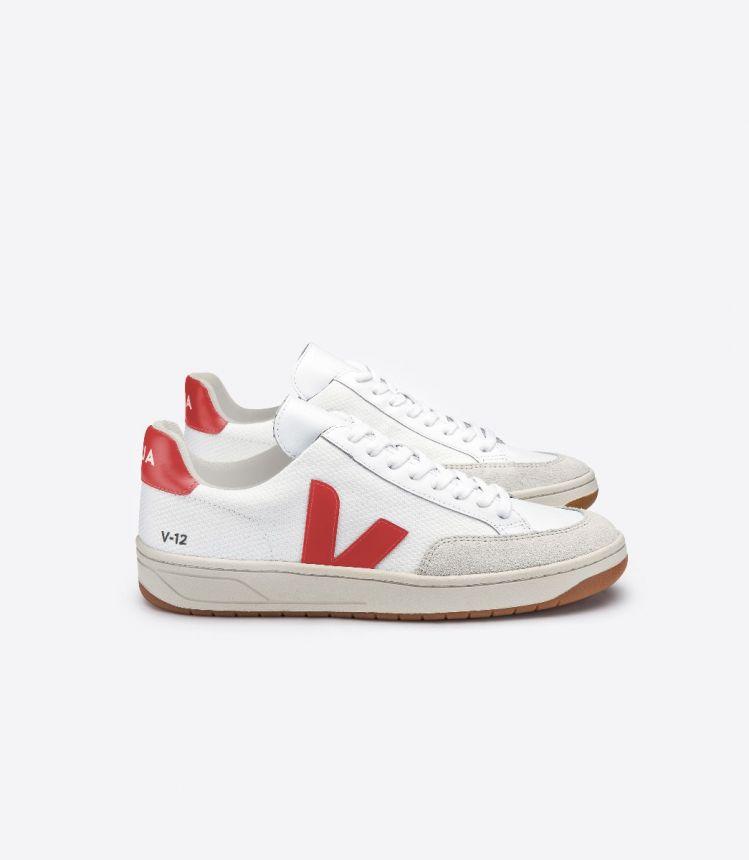 V-12 B-网布布 白色 红色