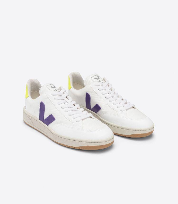 V-12 B-网布布 白色 紫色 荧光黄