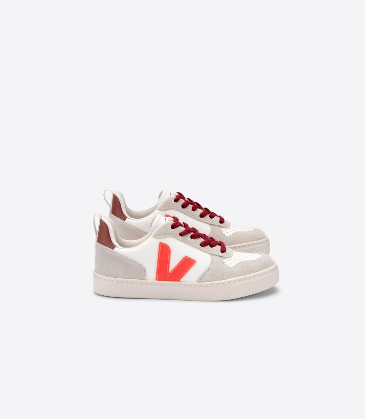 V-10 VEJA X BONTON 白色荧光橙粉红色