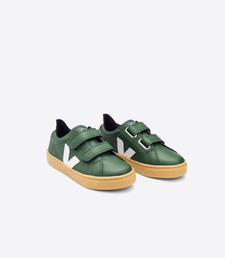 ESPLAR皮革绿色白色