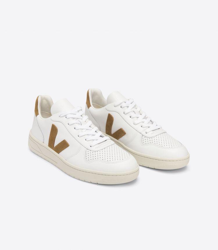 V-10 皮革 白色 淡黄褐色