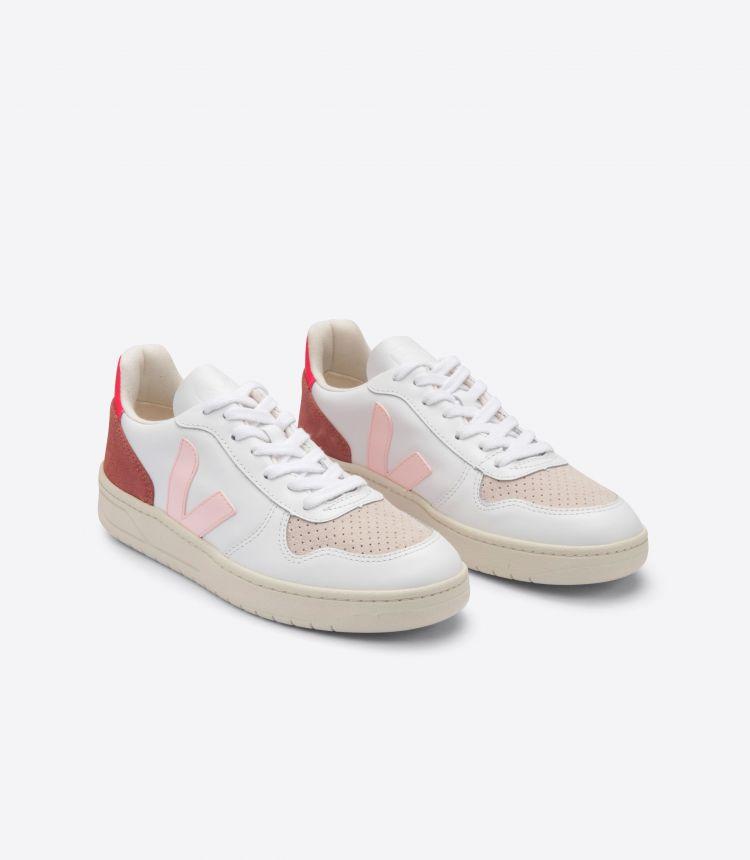 V-10 皮革白色粉红色荧光粉