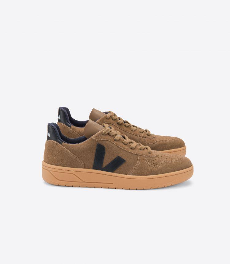 V-10 绒面革 棕色 黑色 棕色-鞋底