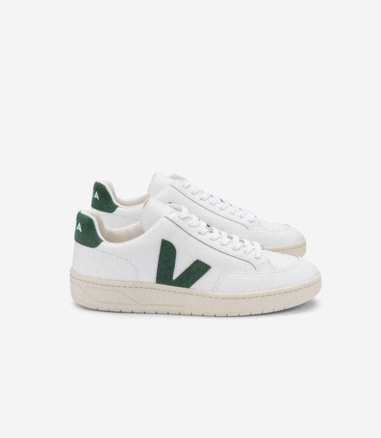 V-12 皮革白色绿色